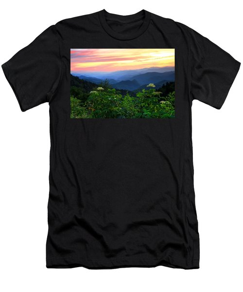 Looking Out Over Woolyback On The Blue Ridge Parkway  Men's T-Shirt (Athletic Fit)