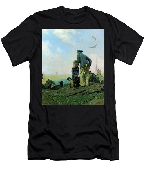 Looking Out To Sea Men's T-Shirt (Athletic Fit)