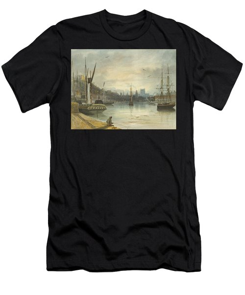 Looking Up The Floating Harbor Towards The Cathedral Men's T-Shirt (Athletic Fit)