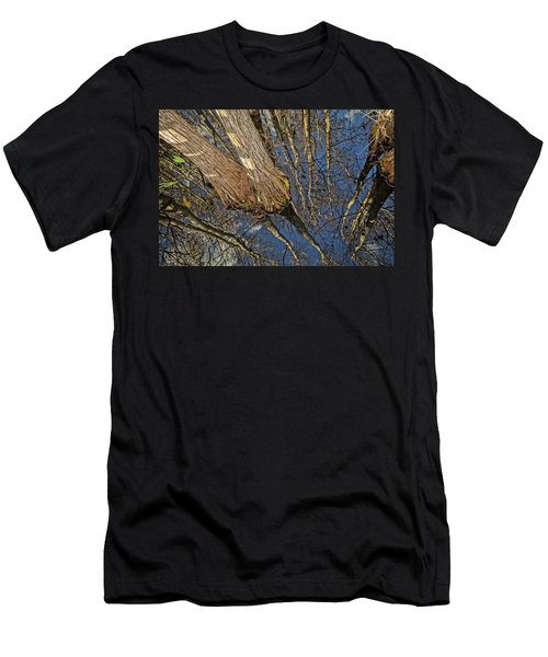 Men's T-Shirt (Slim Fit) featuring the photograph Looking Up While Looking Down by Debra and Dave Vanderlaan