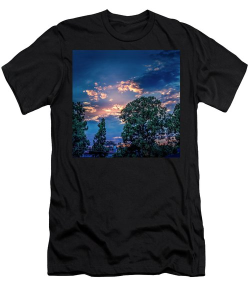 Looking West At Sunset Men's T-Shirt (Athletic Fit)