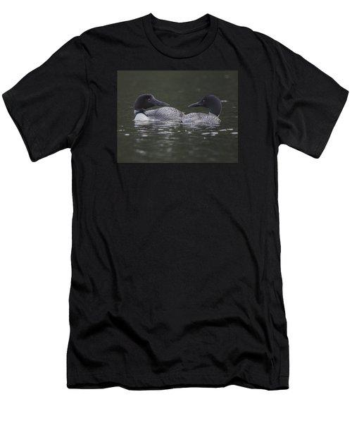 Loon Pair Men's T-Shirt (Athletic Fit)
