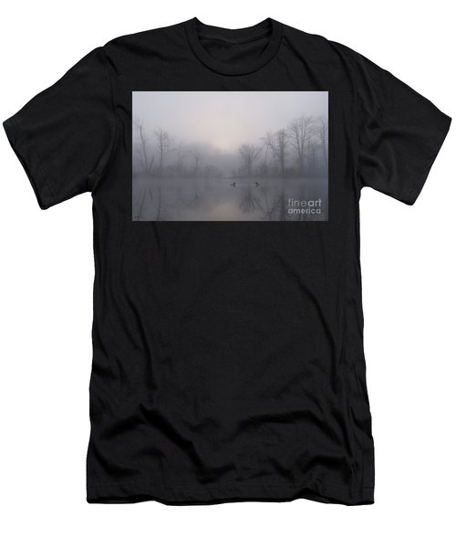 Loons In The Fog Men's T-Shirt (Athletic Fit)