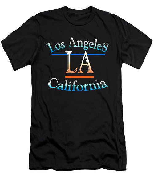 Los Angeles California Design Men's T-Shirt (Athletic Fit)