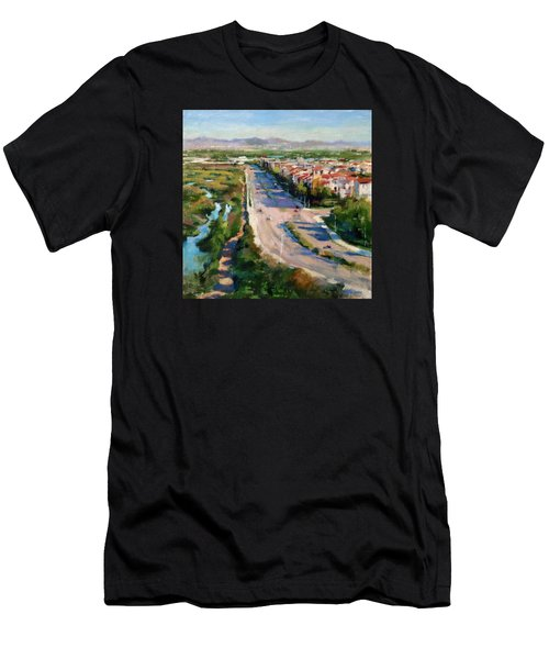 Los Angeles - Playa Vista From South Bluff Trail Road Men's T-Shirt (Athletic Fit)