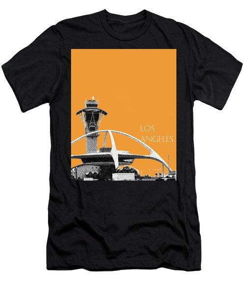 Los Angeles Skyline Lax Spider - Orange Men's T-Shirt (Athletic Fit)