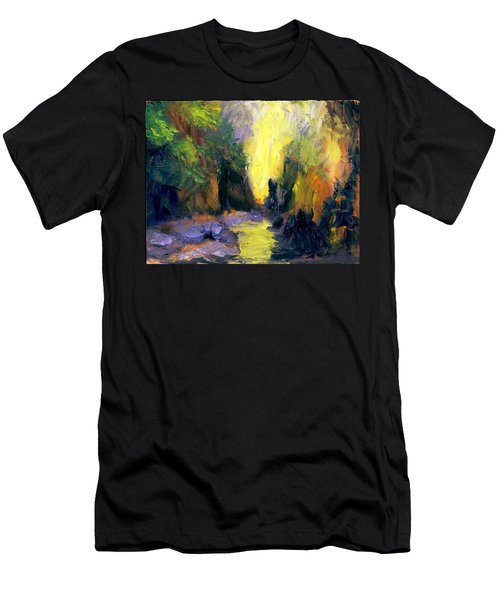 Lost Creek Men's T-Shirt (Slim Fit) by Gail Kirtz