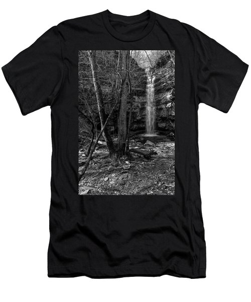 Lost Creek In Black And White Men's T-Shirt (Athletic Fit)