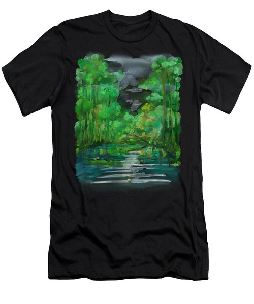 Men's T-Shirt (Athletic Fit) featuring the painting Lost In Colors  by Ivana Westin