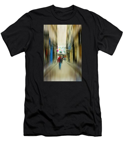 Lost In The Maze Of The City Men's T-Shirt (Athletic Fit)