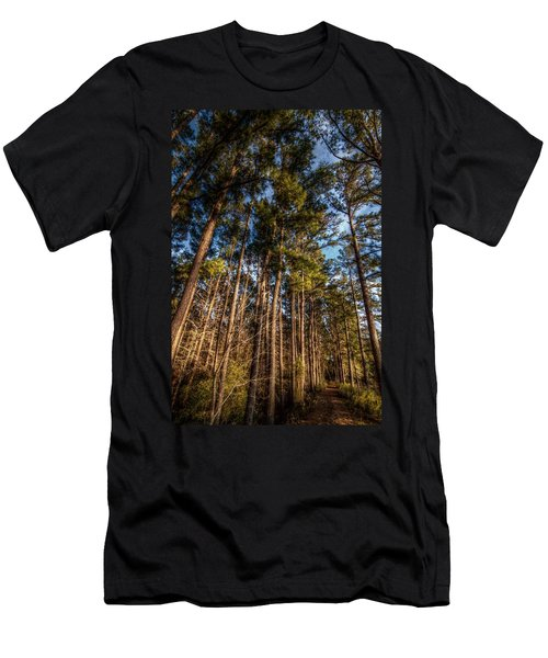 Lost In The Woods Men's T-Shirt (Slim Fit) by Linda Unger