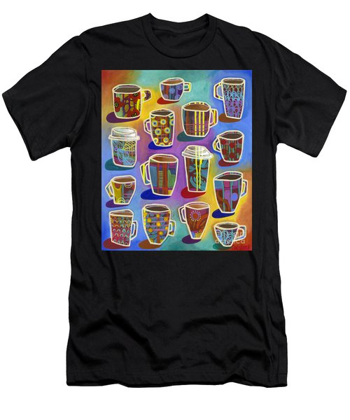Men's T-Shirt (Athletic Fit) featuring the painting Lots Of Lattes by Carla Bank