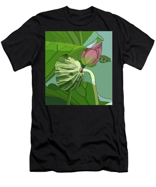 Lotus And Bud Men's T-Shirt (Athletic Fit)