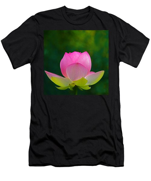 Men's T-Shirt (Slim Fit) featuring the photograph Lotus Blossom 842010 by Byron Varvarigos