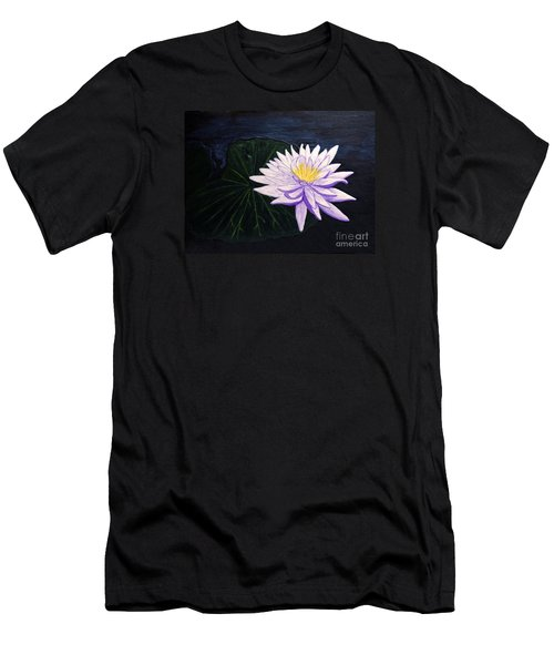 Men's T-Shirt (Slim Fit) featuring the painting Lotus Blossom At Night by Patricia Griffin Brett