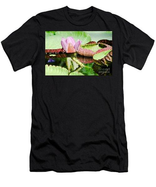 Lotus Flower In Water Men's T-Shirt (Slim Fit) by Yurix Sardinelly