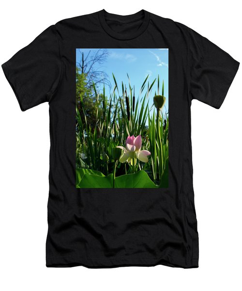 Men's T-Shirt (Athletic Fit) featuring the photograph Lotus Landscape 2 by Buddy Scott