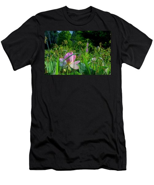 Men's T-Shirt (Athletic Fit) featuring the photograph Lotus Landscape 3 by Buddy Scott