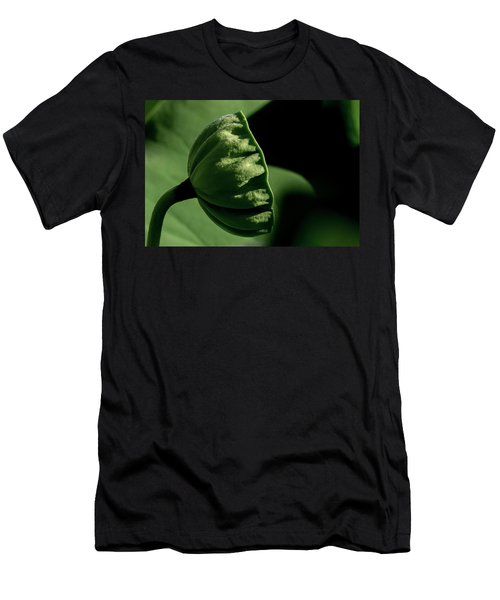 Men's T-Shirt (Athletic Fit) featuring the photograph Lotus Pod 3 by Buddy Scott