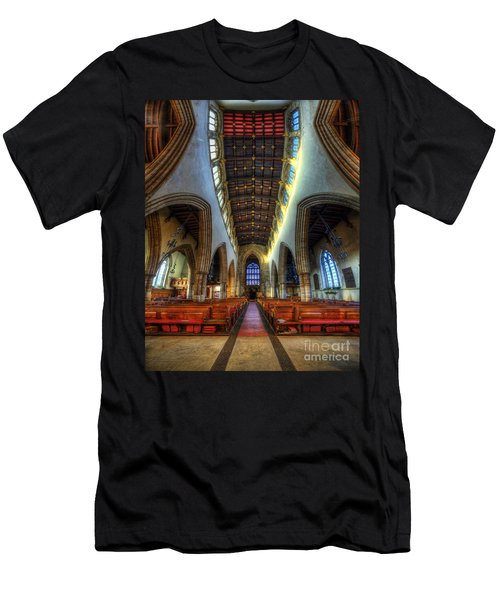 Loughborough Church - Nave Vertorama Men's T-Shirt (Athletic Fit)