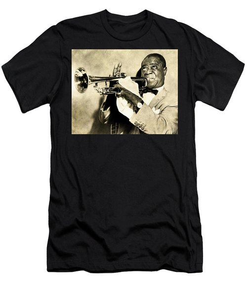 Men's T-Shirt (Athletic Fit) featuring the digital art Louis Satchmo Armstrong by Anthony Murphy
