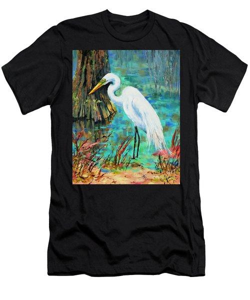 Louisiana Male Egret Men's T-Shirt (Athletic Fit)