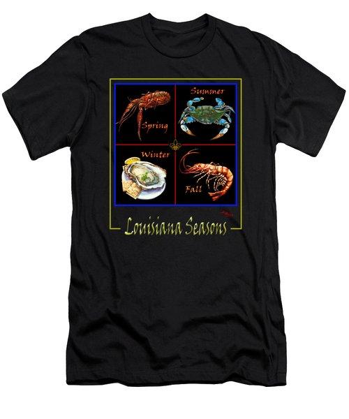 Louisiana Seasons Men's T-Shirt (Slim Fit) by Dianne Parks