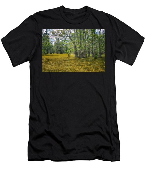 Louisiana Swamp In Gold Men's T-Shirt (Athletic Fit)