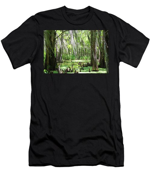 Louisiana Swamp Men's T-Shirt (Slim Fit) by Inspirational Photo Creations Audrey Woods
