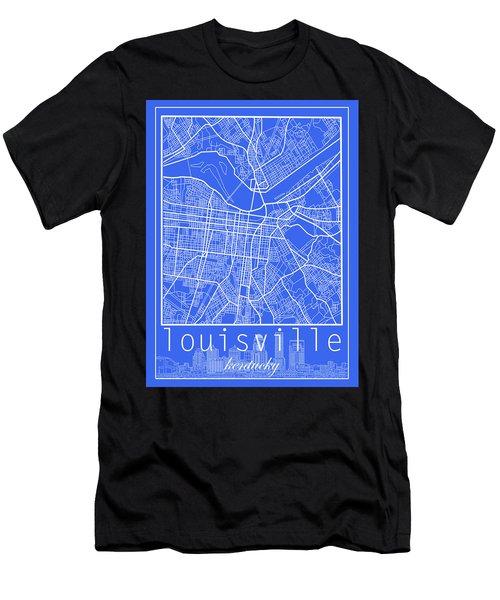 Louisville Kentucky City Map 6 Men's T-Shirt (Athletic Fit)