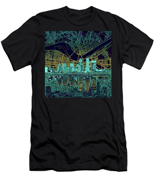 Louisville Kentucky Skyline Abstract 10 Men's T-Shirt (Athletic Fit)