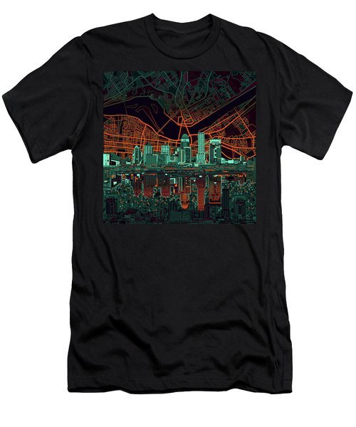 Louisville Kentucky Skyline Abstract 11 Men's T-Shirt (Athletic Fit)