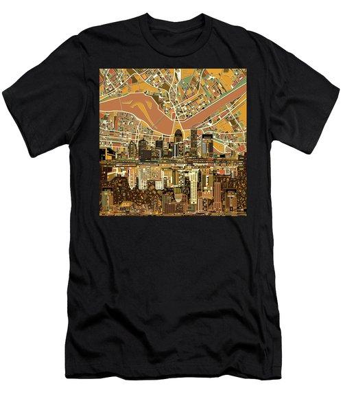 Louisville Kentucky Skyline Abstract 2 Men's T-Shirt (Athletic Fit)