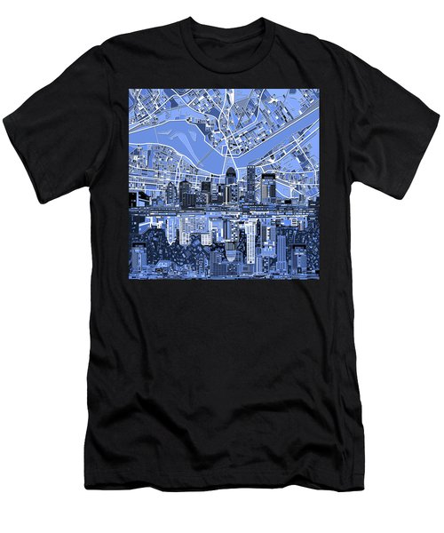 Louisville Kentucky Skyline Abstract 4 Men's T-Shirt (Athletic Fit)