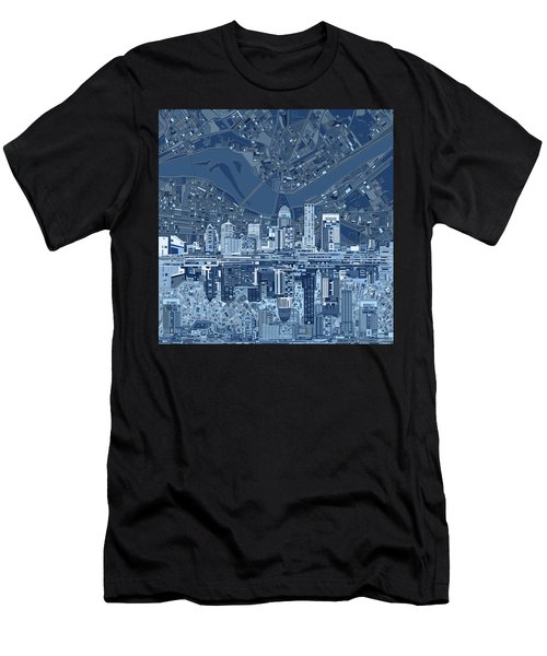 Louisville Kentucky Skyline Abstract 7 Men's T-Shirt (Athletic Fit)