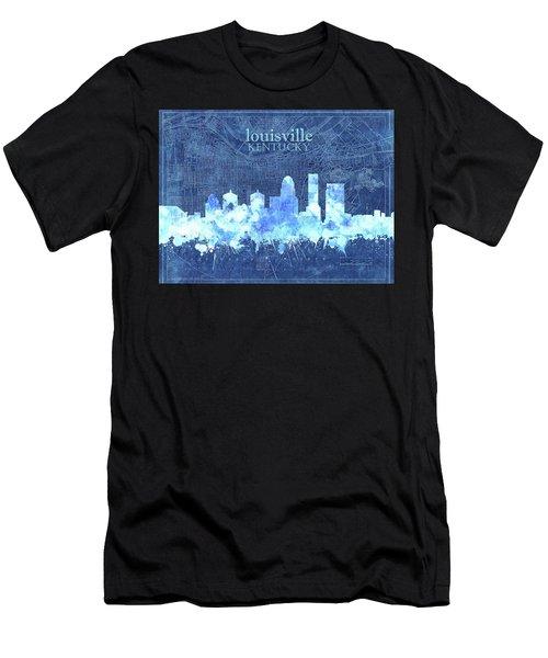 Louisville Kentucky Skyline Vintage 3 Men's T-Shirt (Athletic Fit)