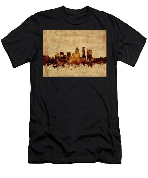 Louisville Kentucky Skyline Vintage Men's T-Shirt (Athletic Fit)