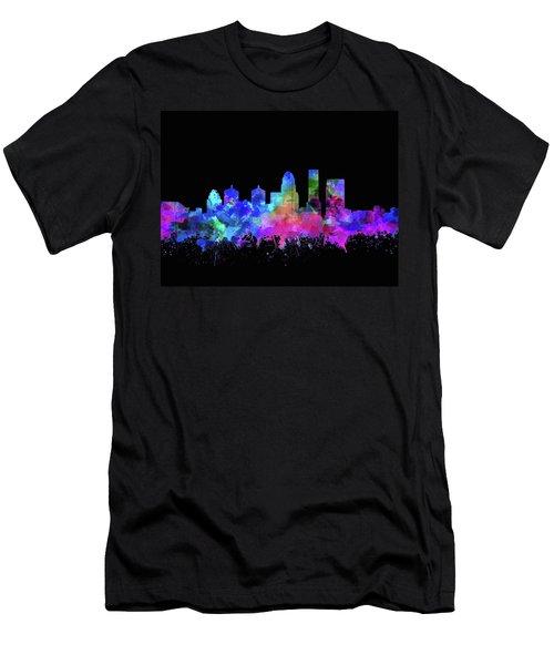 Louisville Kentucky Skyline Watercolor 11 Men's T-Shirt (Athletic Fit)