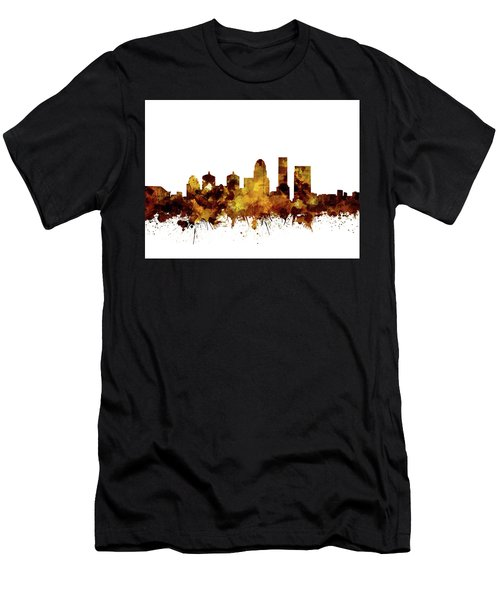 Louisville Kentucky Skyline Watercolor 2 Men's T-Shirt (Athletic Fit)