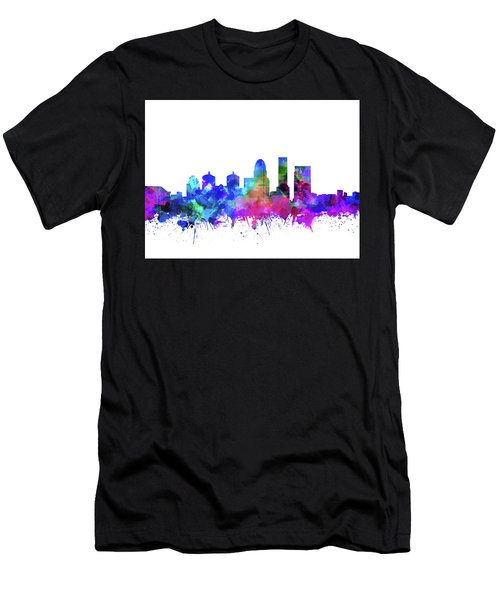 Louisville Kentucky Skyline Watercolor 3 Men's T-Shirt (Athletic Fit)