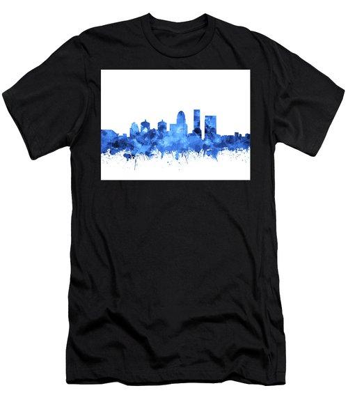 Louisville Kentucky Skyline Watercolor 4 Men's T-Shirt (Athletic Fit)