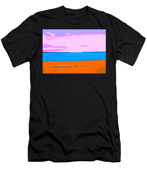 Lounge Chairs On The Beach Men's T-Shirt (Athletic Fit)