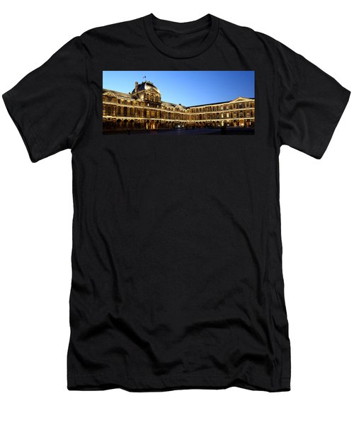 Men's T-Shirt (Slim Fit) featuring the photograph Louvre At Night 1 by Andrew Fare