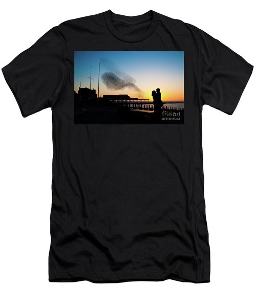 Love Birds At Sunset Men's T-Shirt (Athletic Fit)