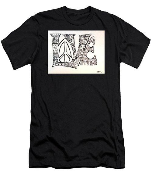 Love Bits Men's T-Shirt (Slim Fit) by Claudia Cole Meek