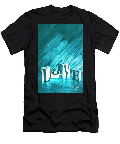 Love Blues Men's T-Shirt (Athletic Fit)