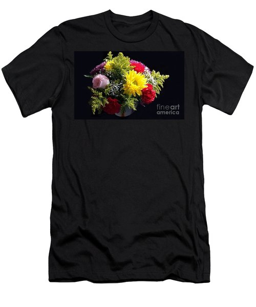 Love Bouquet Men's T-Shirt (Slim Fit) by Becky Lupe