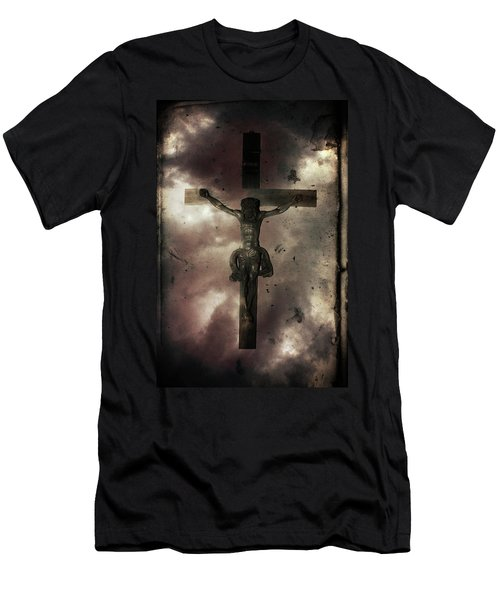 Men's T-Shirt (Slim Fit) featuring the painting Love by Gray  Artus