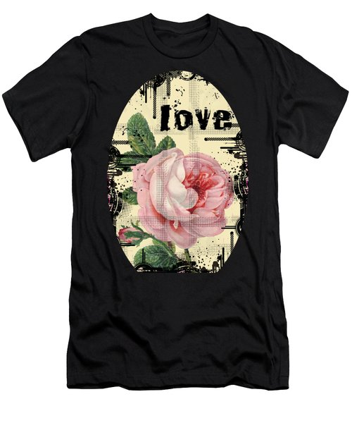 Love Grunge Rose Men's T-Shirt (Athletic Fit)