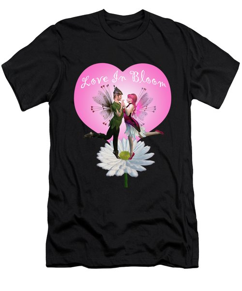 Love In Bloom Men's T-Shirt (Athletic Fit)